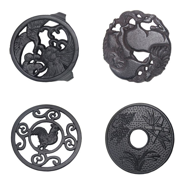茶道 手工壶承茶托日本铁壶垫 耐磨防滑垫配套茶具配件铸铁壶壶垫