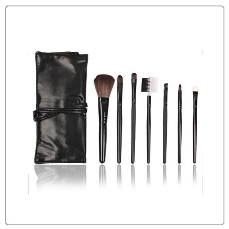 厂家定制PU毛刷化妆包 便携时尚蝴蝶结手拿包 多功能化妆毛刷工具收纳包