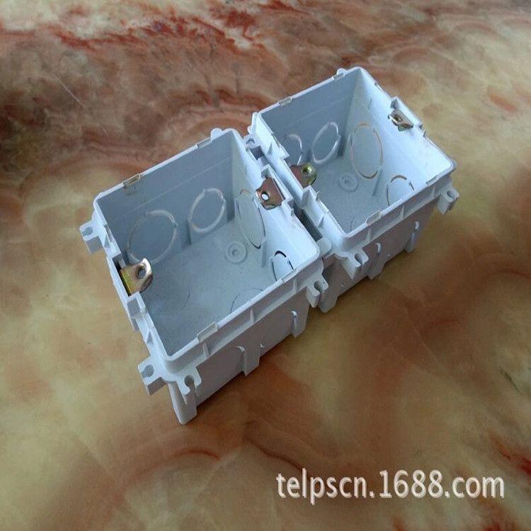 方形暗线盒 86型可左右连接安装黑色固定接线盒 高品质真优惠