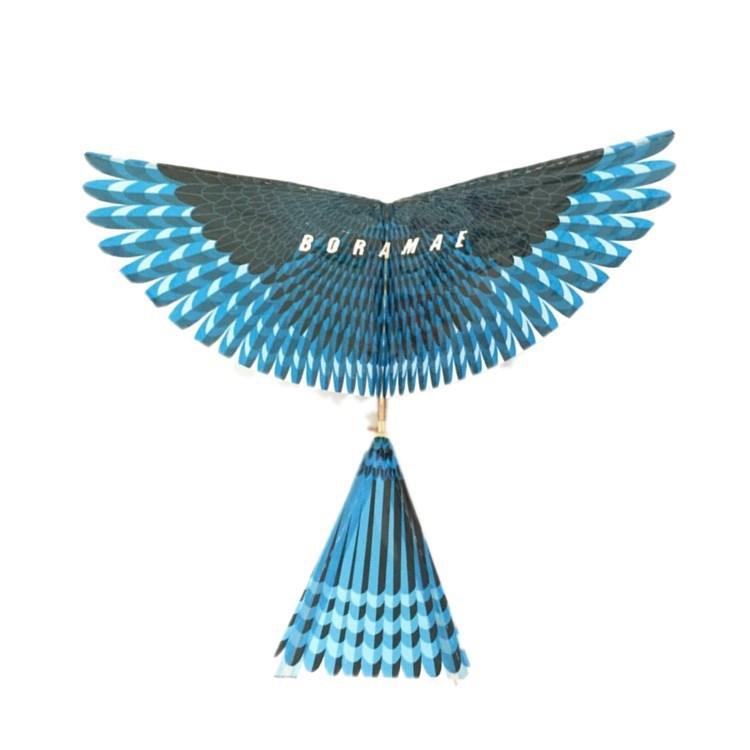 新款组装热卖小飞鸟益智玩具鲁班鸟橡皮筋风筝鸟滑行机