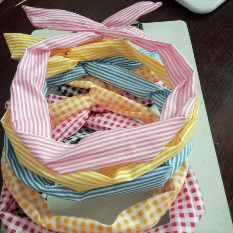 韩版布艺蝴蝶结发箍兔耳朵百变发带/DIY造型发箍 发带 兔耳朵发带