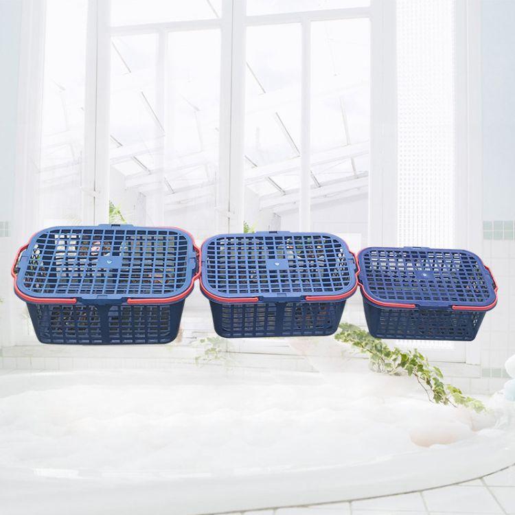 厂家批发批发塑料水果采摘筐草莓篮杨梅篮葡萄篮子有盖手提水果篮