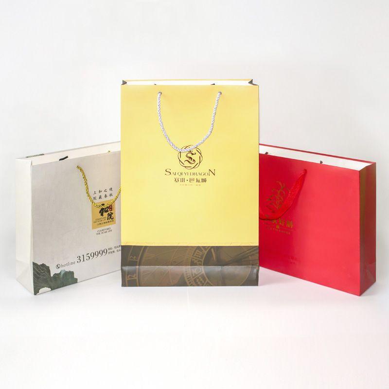 合肥恒晟图文印刷定制各类个性化手提袋 白卡纸手提袋 印刷质量好