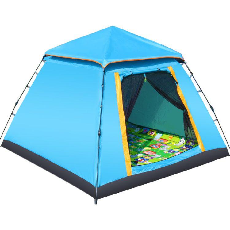 创悦帐篷户外免安装快开双门加大自动帐篷CY-5906