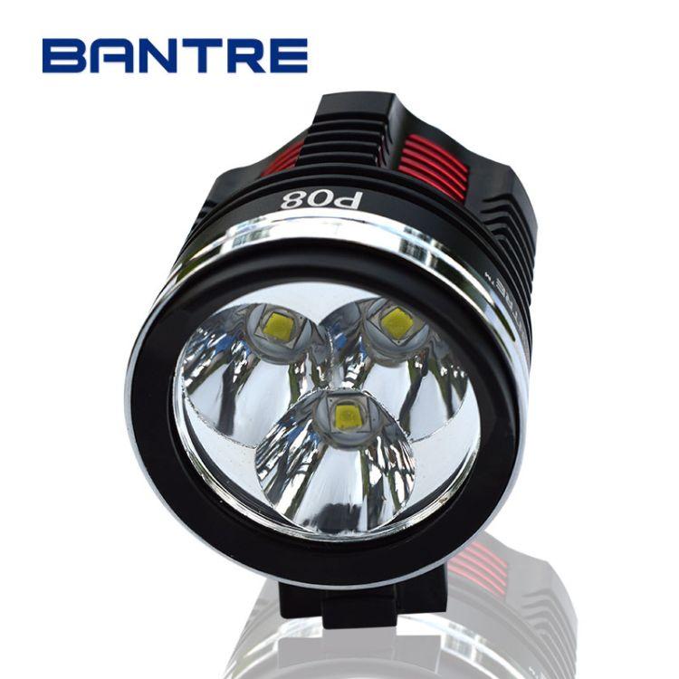 自行车灯 前灯t6 夜骑 山地车灯l2充电强光LED骑行灯单车配件装备
