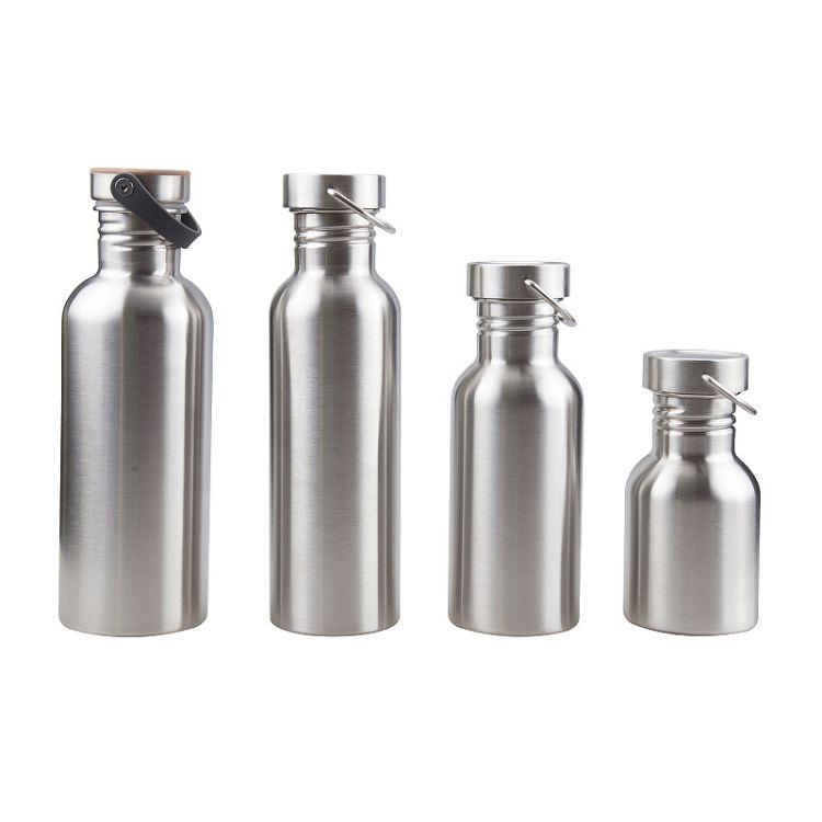 创意水杯 礼品定制logo户外杯子 304单层不锈钢运动水壶