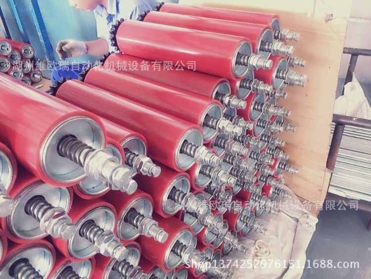 聚氨酯动力辊筒  无动力橡胶辊 包胶辊筒