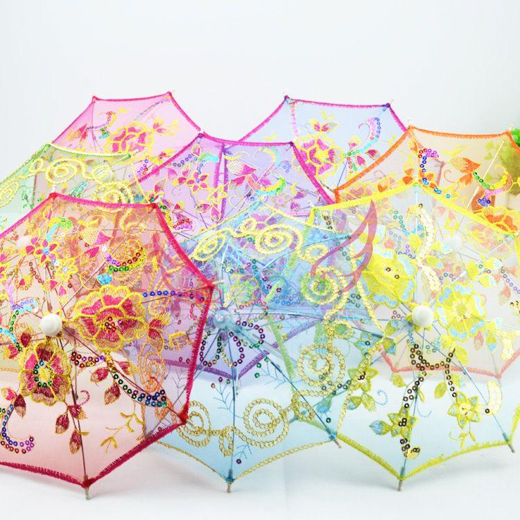 儿童迷你小伞玩具装饰超小雨伞摄影道具蕾丝伞绣花伞批发婚礼