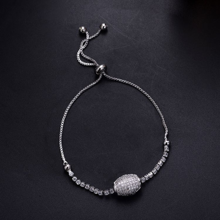 宣妍跨境热卖几何挂珠镶嵌锆日韩蛇骨链唯美时尚女士手链一件代发