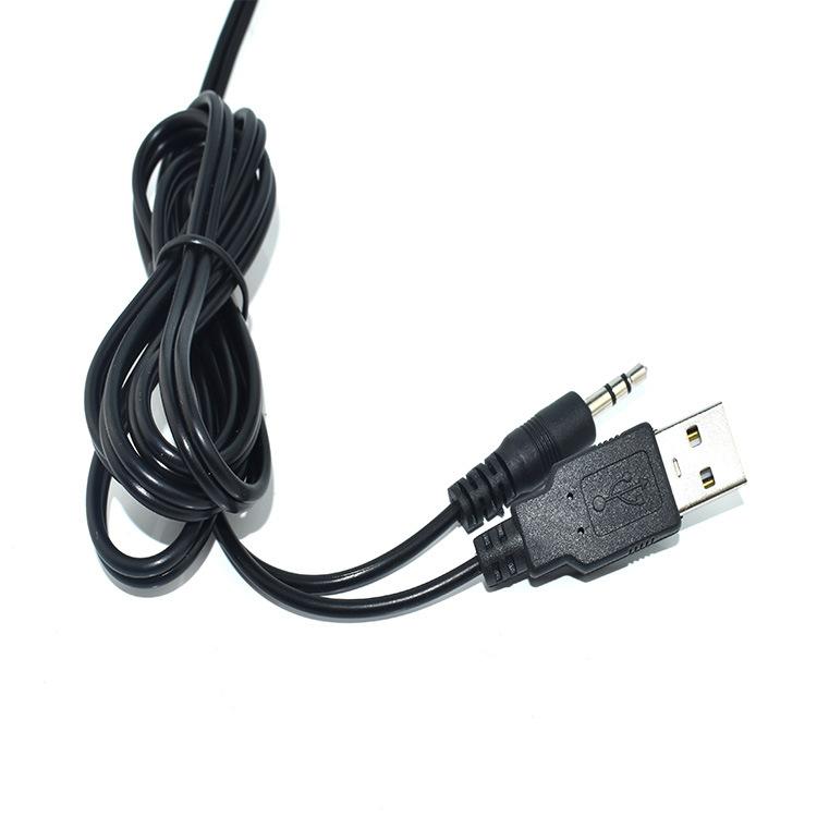 厂家供应USB对3.5立体头音频转接线音响连接线材USB对4p2.0端子线