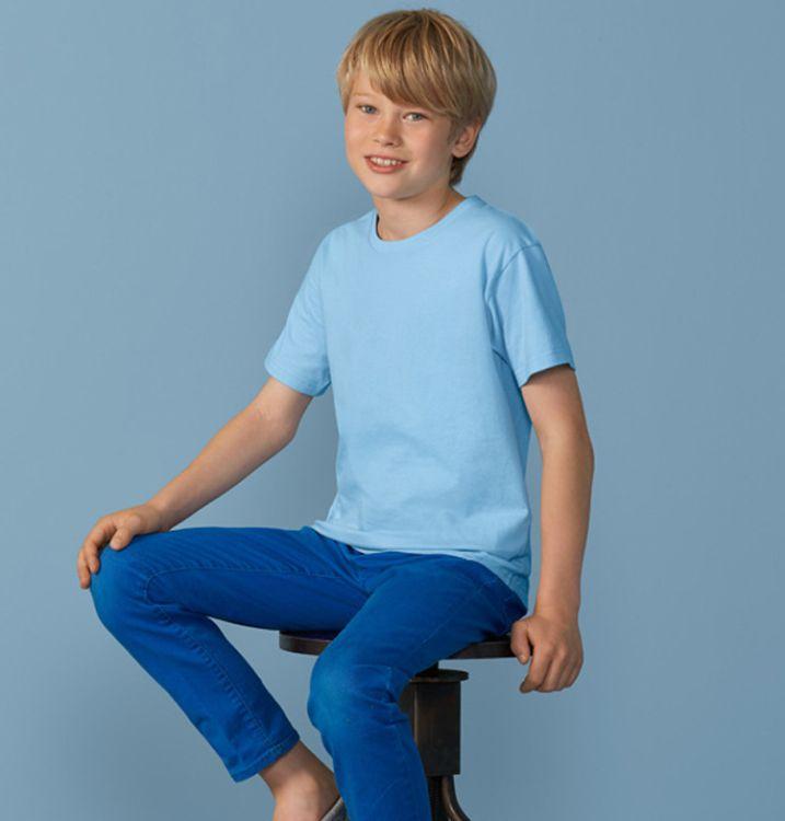 精梳全棉圆领童T恤定制 广告衫童装 小孩文化衫免费印图厂家供