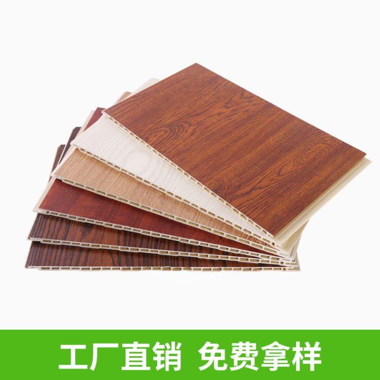 竹木纤维集成墙板快装装饰板材酒店室内装修墙面毛坯房快装护墙板