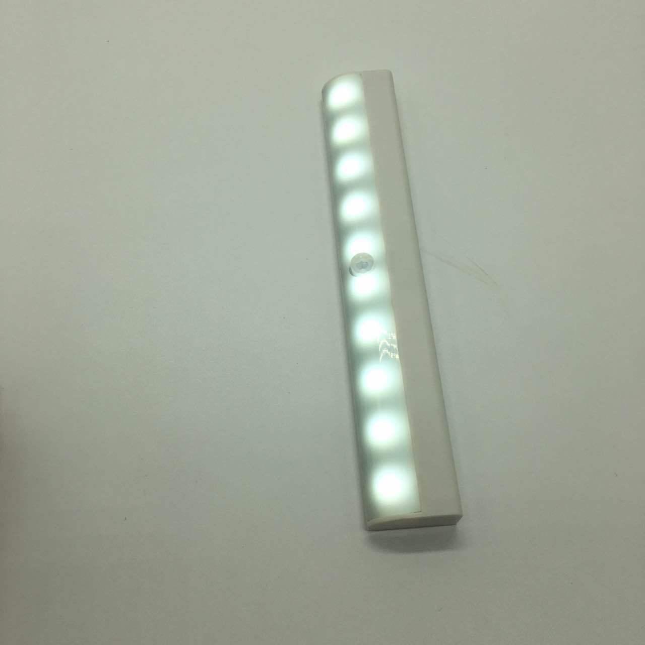 LED感应橱柜灯10颗灯珠高亮人体感应运动条灯