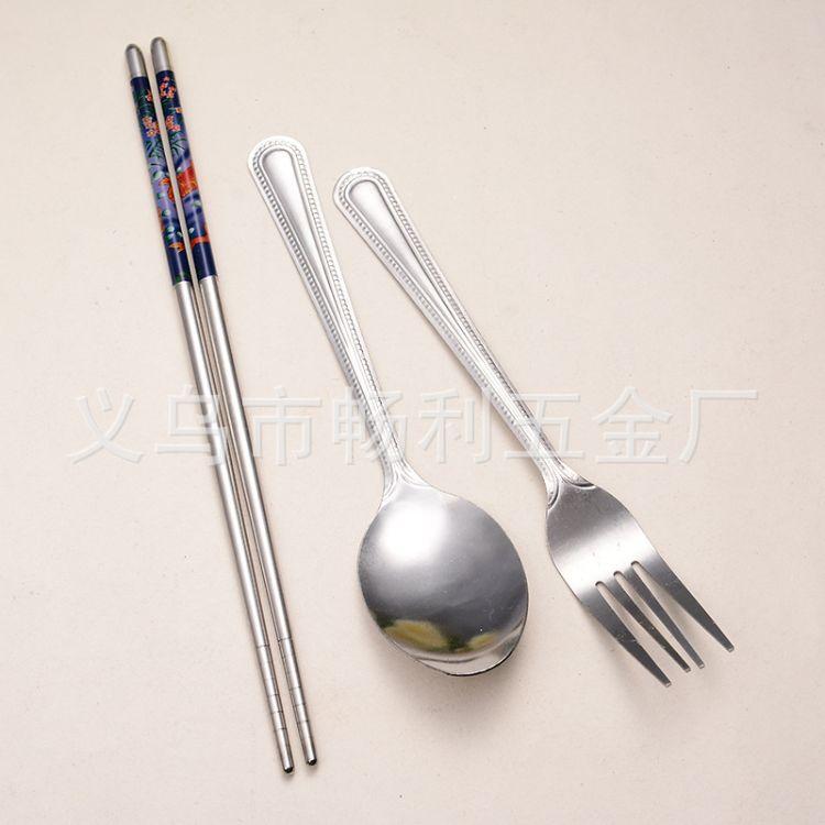 创意筷子 勺子 叉子 餐具套装 小礼品赠品套装 义乌百货厂家直销
