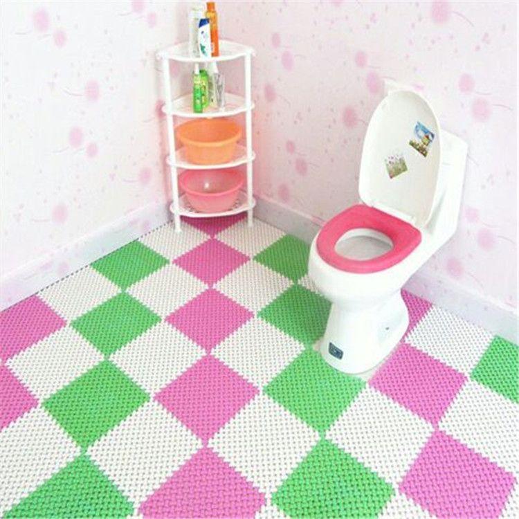 浴室防滑垫卫生间地垫拼接隔水垫卫浴洗澡间淋浴脚垫厕所防水垫子