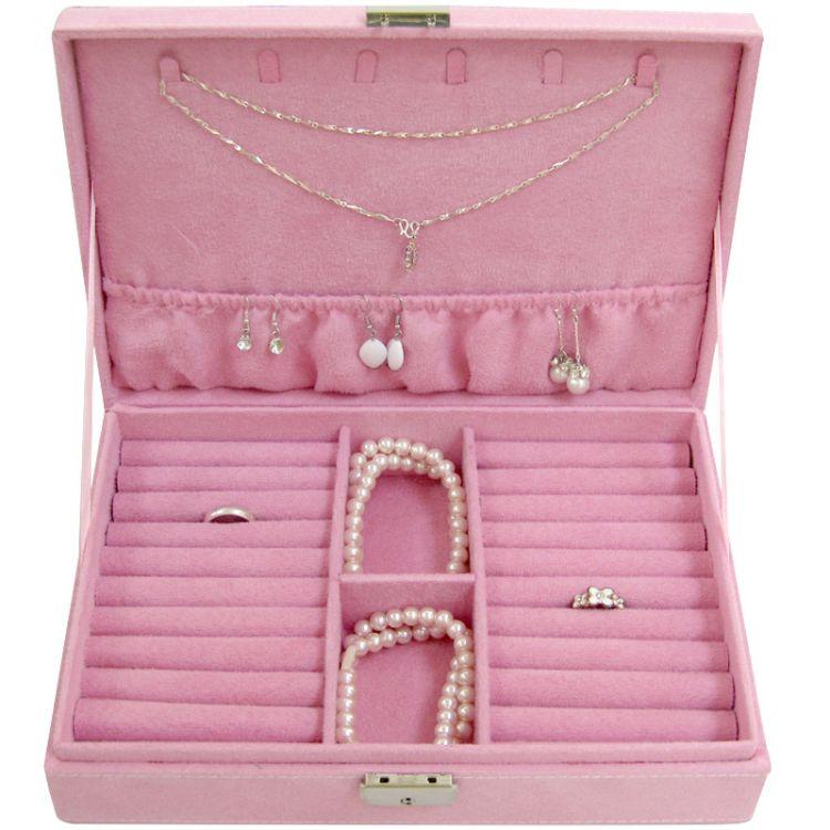 长方戒指首饰盒化妆盒珠宝收纳盒 公主欧式 化妆品促销品 木盒