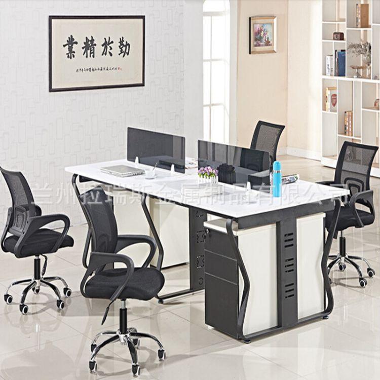 兰州生产办公室桌子 铝合金屏风隔断办公桌 工作桌厂家公司组合桌