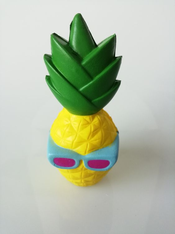 眼镜菠萝  PU 装饰玩具 慢回弹 减压玩具
