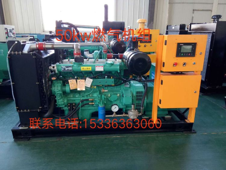 燃气发电机组生产50kw天燃气沼气瓦斯发电机组