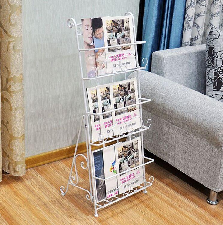 杂志架报刊架书报架资料架落地欧式铁艺创意宣传展示架子立体书架
