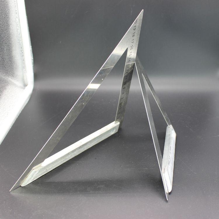 金铃牌不锈钢直角尺拐尺三角尺手工制作测绘角尺多功能加厚角尺