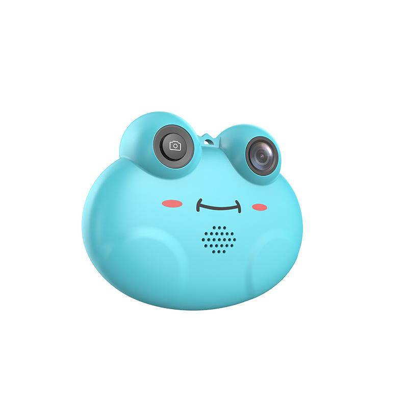 厂家直销儿童数码相机 卡通青蛙儿童相机多国语言DIY拍照设计相机