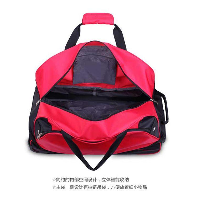 厂家直销印花条纹包包 旅游手提包 大容量行李包