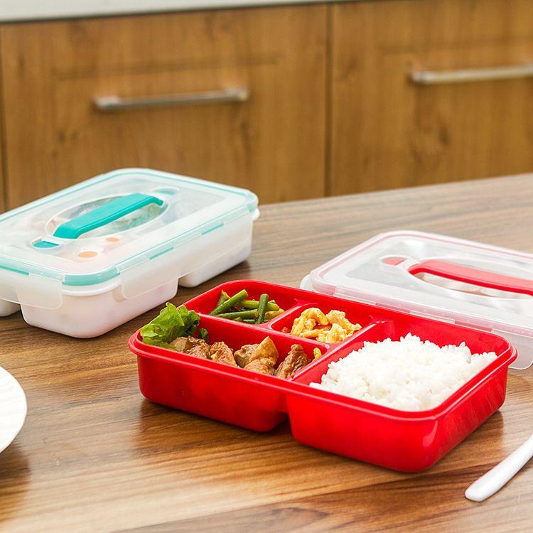 韩式密封饭盒牢固耐用保温保鲜饭盒方形塑料便当盒