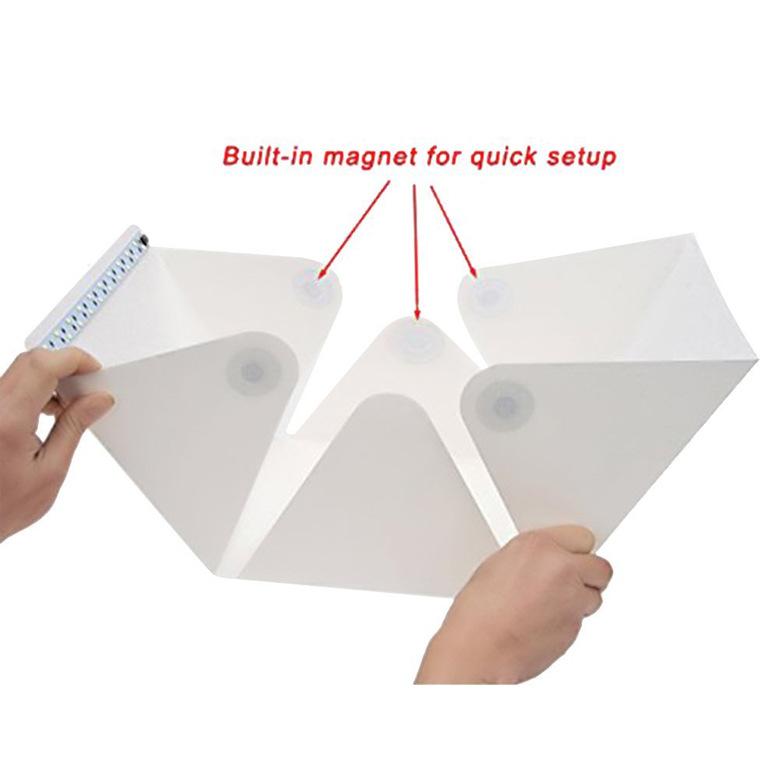 小型LED摄影棚迷你摄影灯箱小型拍照箱便携式折叠40cm摄影棚