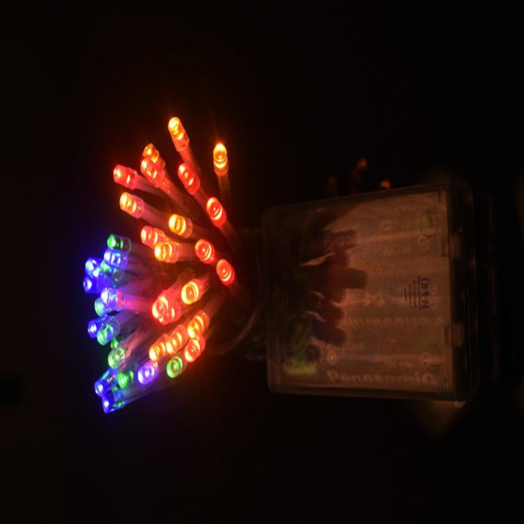 厂家批发led灯串电池盒春节彩灯婚庆家居装饰透明线小闪灯常亮灯