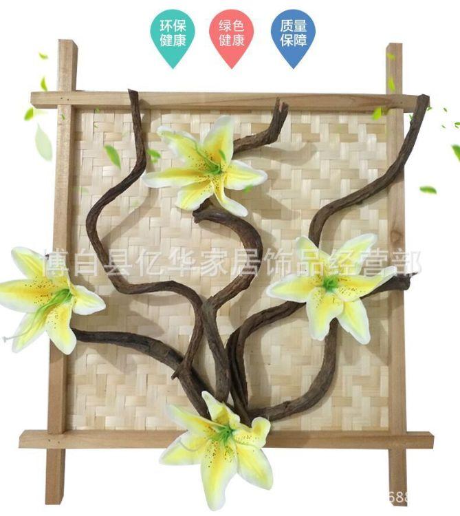 竹编簸箕正方形井字框 沙发电视背景墙壁画框复古龙腾装饰画框