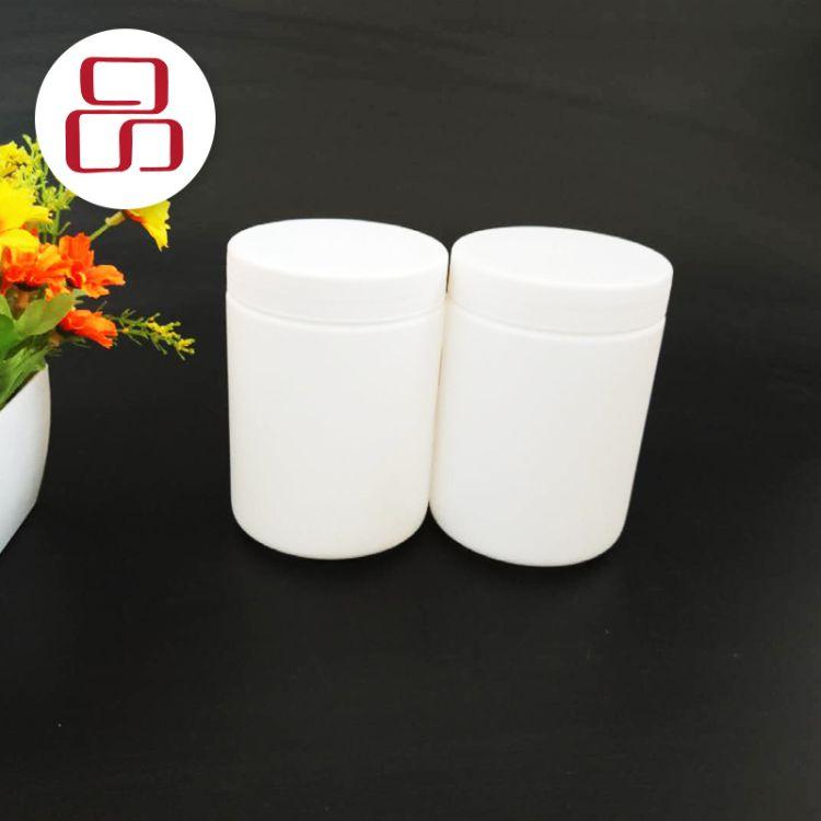 康誠-500g白色廣口凡士林固體霜藥膏霜粉劑盒 加厚包裝塑料廣口瓶