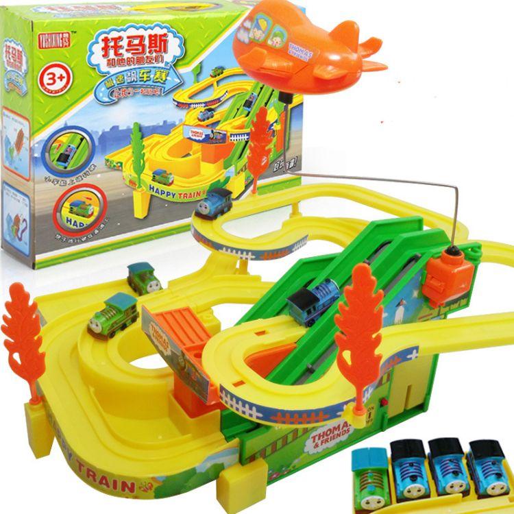 爆款儿童电动玩具 拼装 电动轨道小火车俞氏兴轨道车玩具一件代发