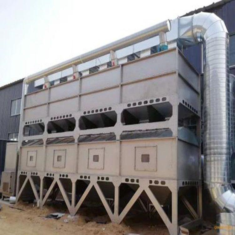 河北晟驰生产销售催化燃烧设备 活性炭吸附脱环保箱 烤漆房工业废气处理设备
