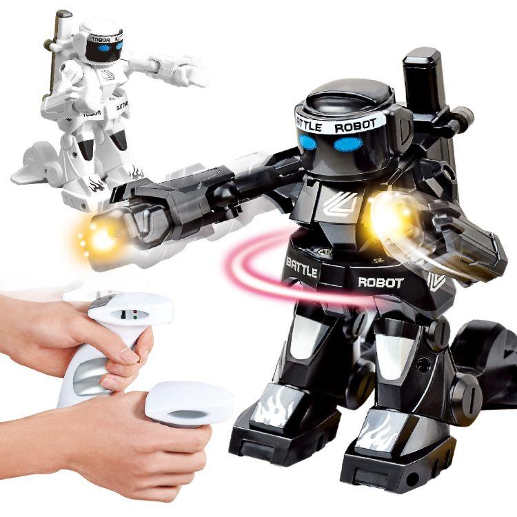 2.4G体感遥控对战机器人双人竞技搏击对打机器人模型儿童玩具包邮