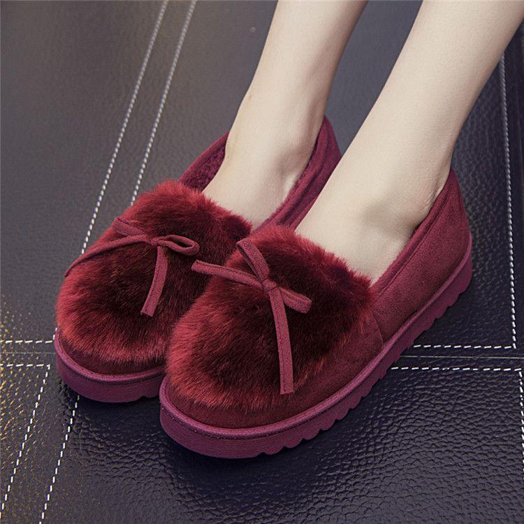 棉拖鞋新款冬季韩版蝴蝶结拖鞋女棉鞋家居保暖拖鞋居家一件代发